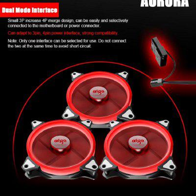 LED Case Fan 140mm Fan Silent Sleeve Bearing 12V Desktop PC Fan