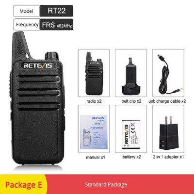 RT22 VOX Handsfree Mini Walkie Talkie Portable Short Range Two Way Radio with Clip 2pcs