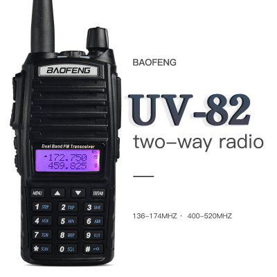 Dual Band Handheld Walkie Talkie 5km Range Two Way Radio Adults FM Transceiver with Clip