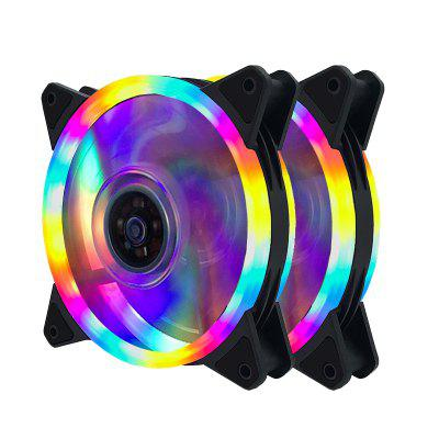 LED Case Fan 140mm Fans Silent Sleeve Bearing 12V Desktop PC Fan