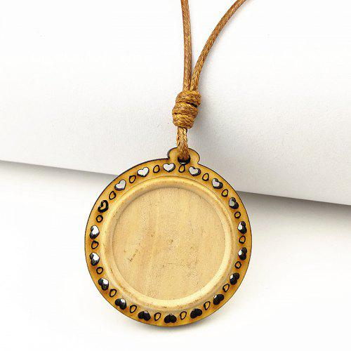 New Trendy Wooden Glass Cabochon Necklace Wolf Moon Necklace Fashion Chain Jewelry For Men Women Gift