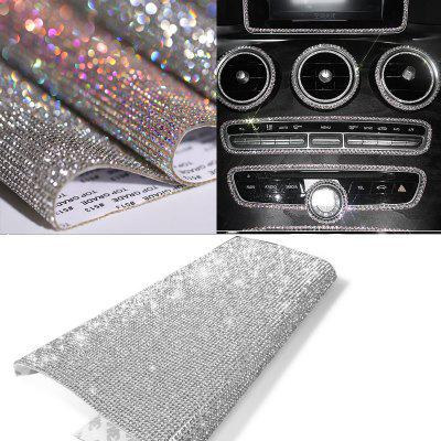 DIY Car Decoration Sticker Bling Crystal Rhinestone Car Stickers for License Plate Frame