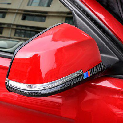 Carbon Fiber Rearview Mirror Anti-rub Strip Car Sticker for BMW