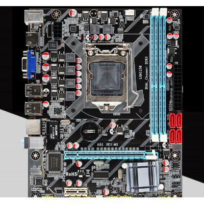 H55 Motherboard socket LGA 1156 Supports DDR3 16G PCI-Express USB2.0 Ports