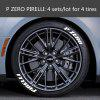 Car Rubber Tire Letterings Stickers DIY Tuning Decals