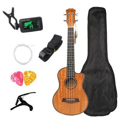 Concert Ukulele Kits 23 Inch Mahogany 4 String Mini Hawaiian Guitar For Beginner