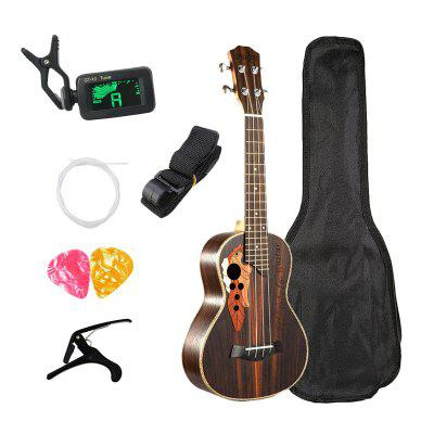 Concert Ukulele Kits 23 Inch Rosewood Ukulele 4 String Mini Hawaii Guitar for Beginner