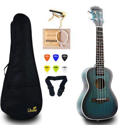 23 inch Mini Guitar Concert Ukulele Electric Mahogany Ukelele Capo String Strap Picks Hawaii Guitar