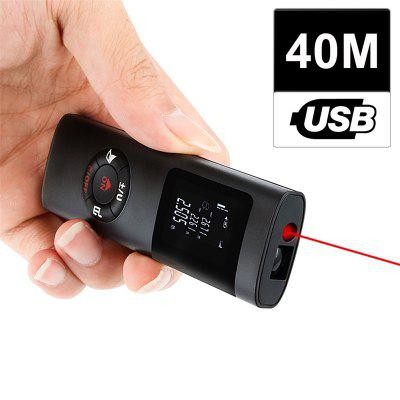 Mini Handheld 40M Smart Digital Laser Distance Meter Range Laser Rangefinder Portable USB Charging
