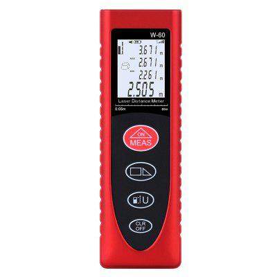 Smart Handheld LCD Laser Rangefinder Distance Meter Portable Multifunction Space Measuring Tool