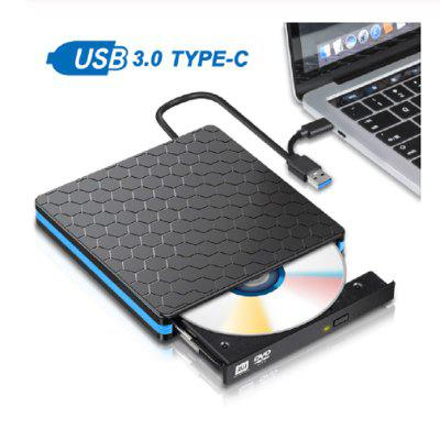 External DVD Drive Optical Drive USB 3.0 CD ROM Player CD-RW Burner Writer Reader Recorder Portatil
