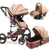Baby Stroller 2 in 1 Stroller Lying or Dampening Folding Light Weight Two-sided Child