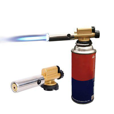 Butane Gas Welding Gun Electronic Ignition Torch Burner  Adjustable Flame Copper Nozzle Heat Tool