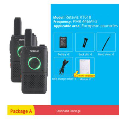 RT618 RT18 PMR Rechargeable Mini Walkie Talkie Digital Two Way Radio Set 2pcs for Outdoor Indoor Use