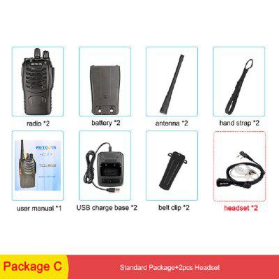 H777 Professional Walkie Talkie Set 3W USB Rechargeable Walkie-Talkie Communicator 2pcs