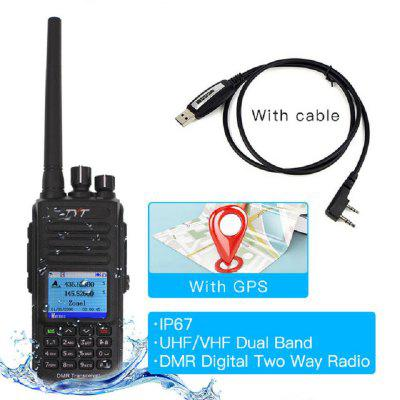 MD-UV390 DMR Digital Walkie Talkie Mini IP67 Waterproof 2 Way Radio Dual Band UV Transceiver 5 Watt