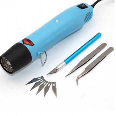 220V 300W Mini Heat Gun with Stand Hot Air Blower Portable Electric Soldering Tool