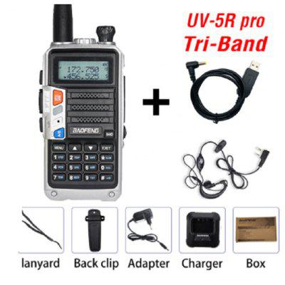 BaoFeng UV-5R Pro 2 Way Radio Walkie Talkie Tri Band Real Digital Two Way Radios for Business Hiking