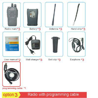 BF-888S Chargeable Walkie Talkie Set Of 3 5W 16CH Portable Radio Station Small Handheld 2 Way Radio