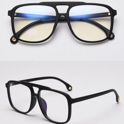 Big Anti Blue Light Glassess Blue Cut Glasses Square Optical Eyewear Transparent Frame Eyeglasses