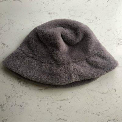 Faux Fur Winter Bucket Hat  Solid Thickened Soft Warm Fishing Cap Outdoor Vacation Hat