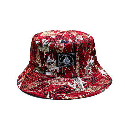 Colorful Mens Bucket Hat Outdoor Sports Hip Hop Cap Floral Double Side Summer Cotton Fishing Hat