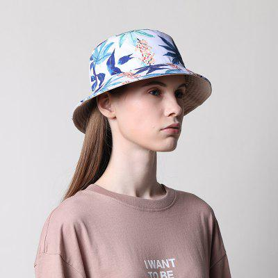 Double Sided Floral Womens Bucket Hat Summer Hats Cotton Foldable Ladies Mens Sun Shade Caps