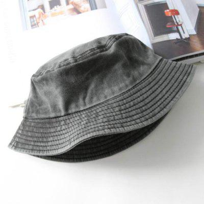 Vintage Washed Denim Mens Bucket Hat Hip Hop Solid Spring Autumn Jean Fishing Cap Flat Top Sun Hats