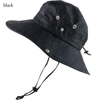 Long Wide Brim Bucket Hat Summer UV Protection Camouflage Cap Military Hiking Outdoor Sun Hat