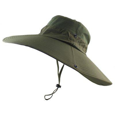 14cm Super Long-Wide Brim Outdoor Bucket Hat Breathable Quick-Dry Men Women Sport Cap