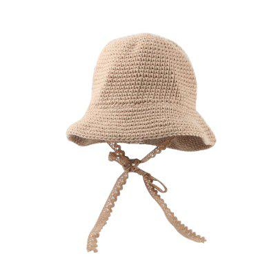Soft Breathable Autumn Spring Bucket Hats Baby Girls Knitted Fishing Floppy Cap Cute Kids Beach Hat