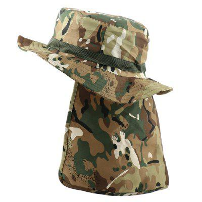 Tactical Camouflage Bucket Hat Militares Mens Hiking Fishing Hat UV Protection Sun Cap with Flaps