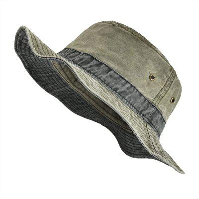 Cool Military Style Washed Cotton Bucket Hats Summer Fishing Hunting Cap Men Panama Hat