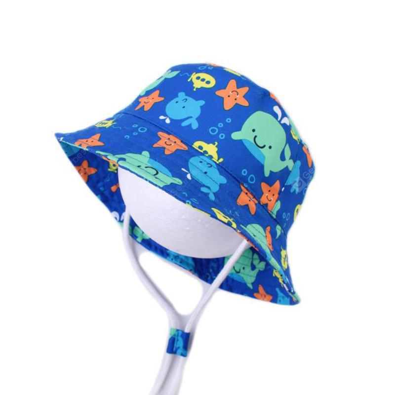 Baby Boy Girls Cartoon Shark Bucket Hats Toddler Fish Caps Reversible Sun Hat