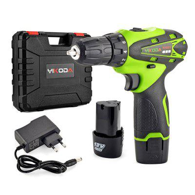 12V Small Electric Hammer Drill Cordless Rechargeable Screwdriver Impact Drill Dual Speed