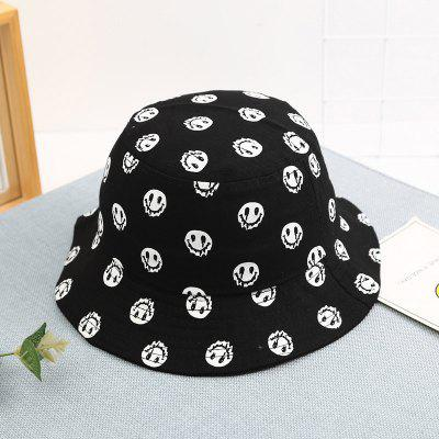 Smiley Face Kids Bucket Hats Boys Girls Sun Helmet Cap Children Fishing Hat Cotton Fisherman Caps