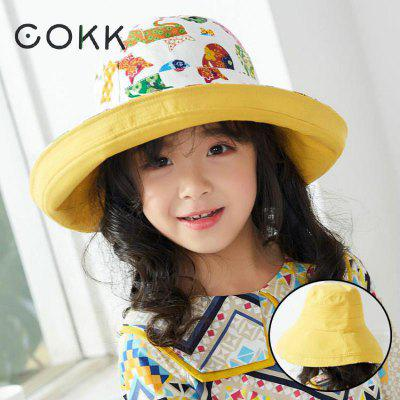 Cartoon Double Side Kids Bucket Hat Wide Brim Fishing Hat Cotton Outdoor Beach Sun Girls Hat