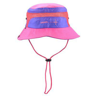 Quick Dry Kids Bucket Hat with Drawstring Summer Fishing Hiking Cap Breathable Beach Sun Hat