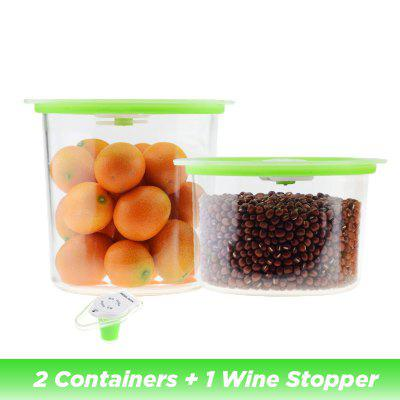 Vacuum Containers Wine Stopper for Keeping Food Wine Fresh Work with Vacuum Sealer Pack Machine
