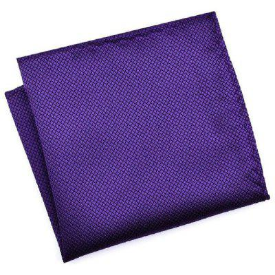 High Fashion Pocket Squares Grid Handkerchief Men Accessories Polyester Hanky Solid Color Towel