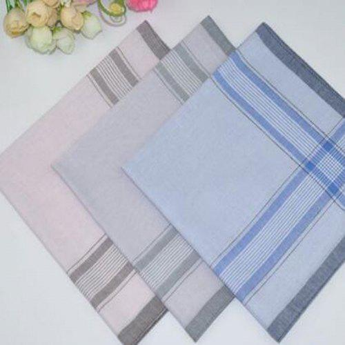 10Pcs Square Handkerchiefs Classic Check Pattern Vintage Pocket Hanky Cotton