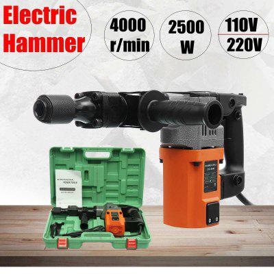 EU 2500W Electric Drill Demolition Jack Hammer Rotary Jackhammer Electric Concrete Drill