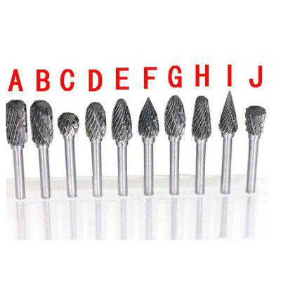 Tungsten Carbide Milling Cutter Rotary Tool Burr Double Diamond Cut  Dremel Tools Electric Grinding