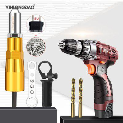 Electric Rivet Nut Gun Riveting Tool Cordless Riveting Drill Adaptor Insert Nut Tool Riveting Drill