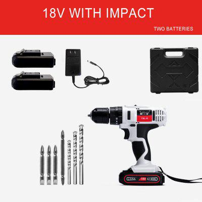 Electric Cordless Drill 18V Multi-functional Electric Screwdriver Handheld Impact drill