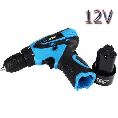 Waterproof 12V Charging Battery Electric Cordless Drill Household Drill DIY Wireless Electric Drill
