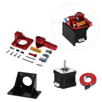 Dual Gear Mk8 Extruder for CR10 CR-10S PRO RepRap 1.75mm 3D Printer Parts Drive Feed double pulley