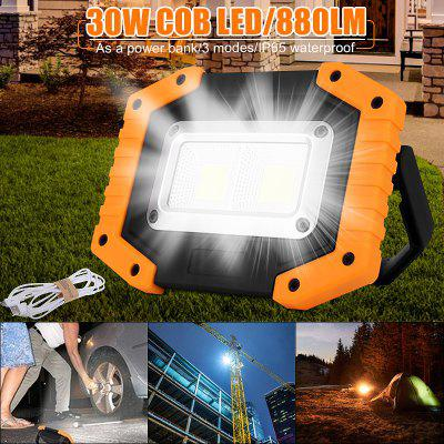 30W COB LED Portable Spotlight Rechargeable Outdoor Working Light For Hunting Camping Lamp