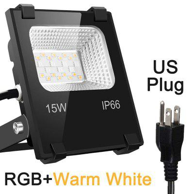 15W Floodlight LED Outdoor Light 360 APP Control IP66 Garden Waterproof Color Changing Spotlight