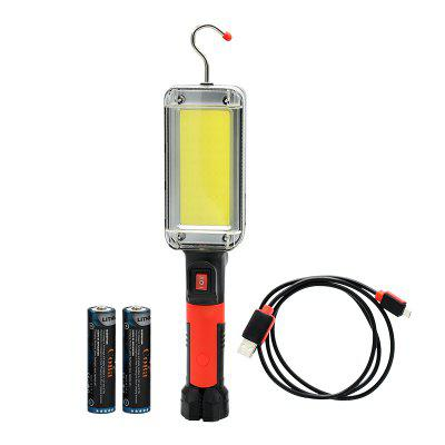 Led work light cob floodlight 8000LM rechargeable lamp portable magnetic light hook clip waterproof